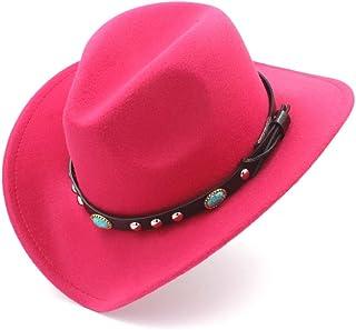 ea8e1cc77dd HXGAZXJQ Fashion Women Men Western Cowboy Hat with Roll Up Brim Felt  Cowgirl Sombrero Caps