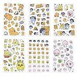 Kakao Friends Emoji Action Sticker Decorative Fun (SIX Sheets Stickers)