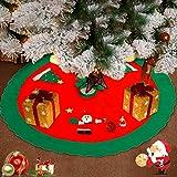 WELLXUNK Tappeto Albero di Natale,Gonna Albero di Natale,Tappetino per Albero di Natale pe...