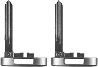 qualitykeylessplus Two Replacement Emergency Key Blade Blanks for Cadillac Uncut Insert with Free KEYTAG