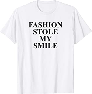Funny Aesthetic Fashion Stole My Smile Streetwear Sarcastic T-Shirt