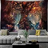 Waldschloss Wandteppich Mandala Wandbehang böhmische dekorative Spitze Hippie Hexerei Wandteppich Hängendes Tuch A4 180x230cm