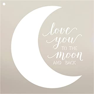 Love You to The Moon and Back Stencil by StudioR12 | Reusable Mylar Template | Use to Paint Wood Signs - Pallets - Pillows...