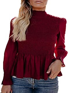 Best red ruffle top blouse Reviews