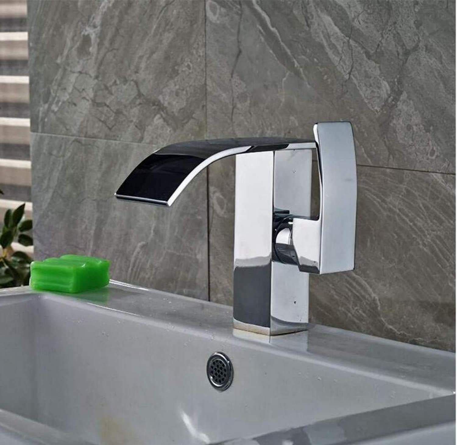 Brass Wall Faucet Chrome Brass Faucetfaucet One Hole Basin Mixer Tap with Hole Cover