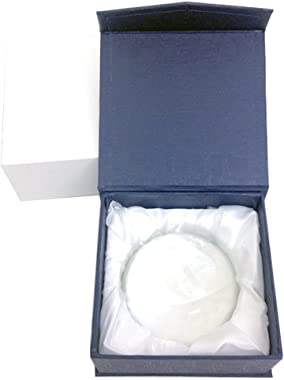 Amlong Crystal Dome Paperweight and Crystal Magnifier, 3 inch Diameter Clear
