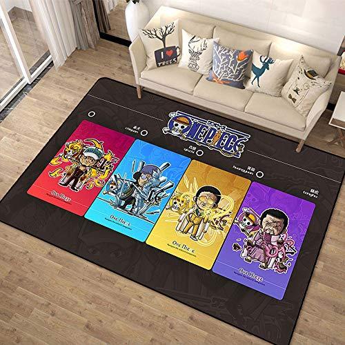Lupovin H-04 One Piece-Serie Teppich Anime Square Bereich Teppiche Anti-Rutsch-Badezimmer-Matten POORMATS Kreative Bodendecke Schlafzimmer Kissen-Fans Wohnkultur Geschenksammlung
