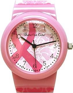 Pink Ribbon Damask Printed Jelly Watch