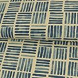 Dekostoff Streifen im Block blau Canvasstoffe Dekorationen