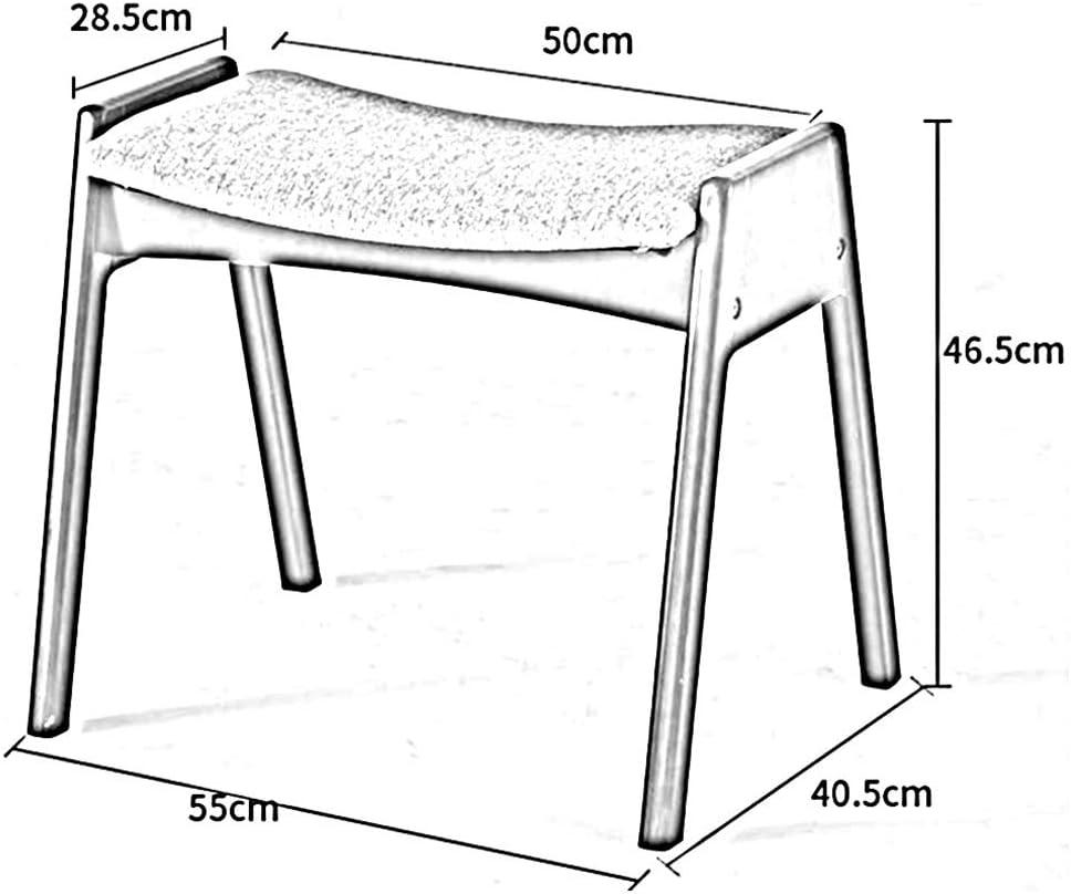Dall Selles Bois Massif Tabourets Empilables Tabouret À Pansement Rembourrés Tabouret Tabouret De Table 55x40.5x46.5cm (Couleur : Café Couleur) Gray