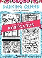 Coloring Broadway Mamma Mia 塗り絵ポストカード 手描きイラスト。 マットカードストックに印刷。 (5インチ x 7インチ - 4個セット)