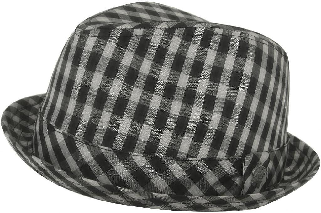 Christys Beau Rivage Plaid Fedora Low Profile Hat