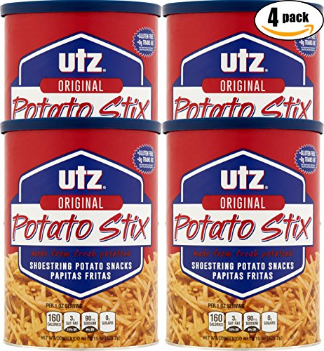 UTZ Original Potato Stix, 15oz Can (Pack of 4, Total of 60 Oz)