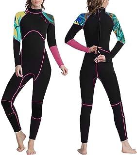 OMGear Wetsuit Men Women Youth 3mm Neoprene Full Body UV Protection One Piece Long Sleeves Scuba Diving Suits Back Zipper ...