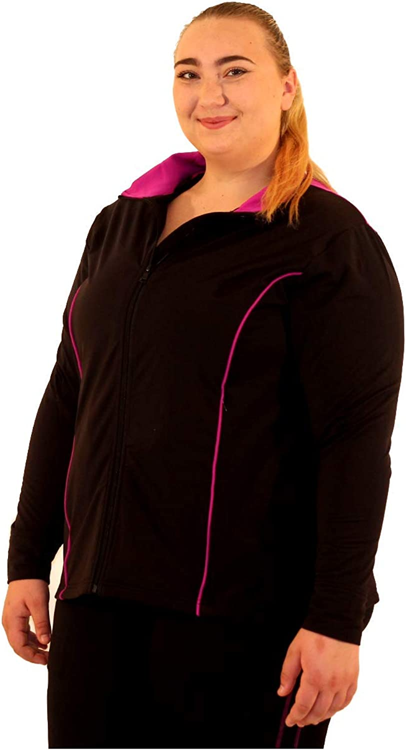 Fit-Labs Plus Size Active Athletic Warm-UP Jacket Available in Sizes:1X - 4X