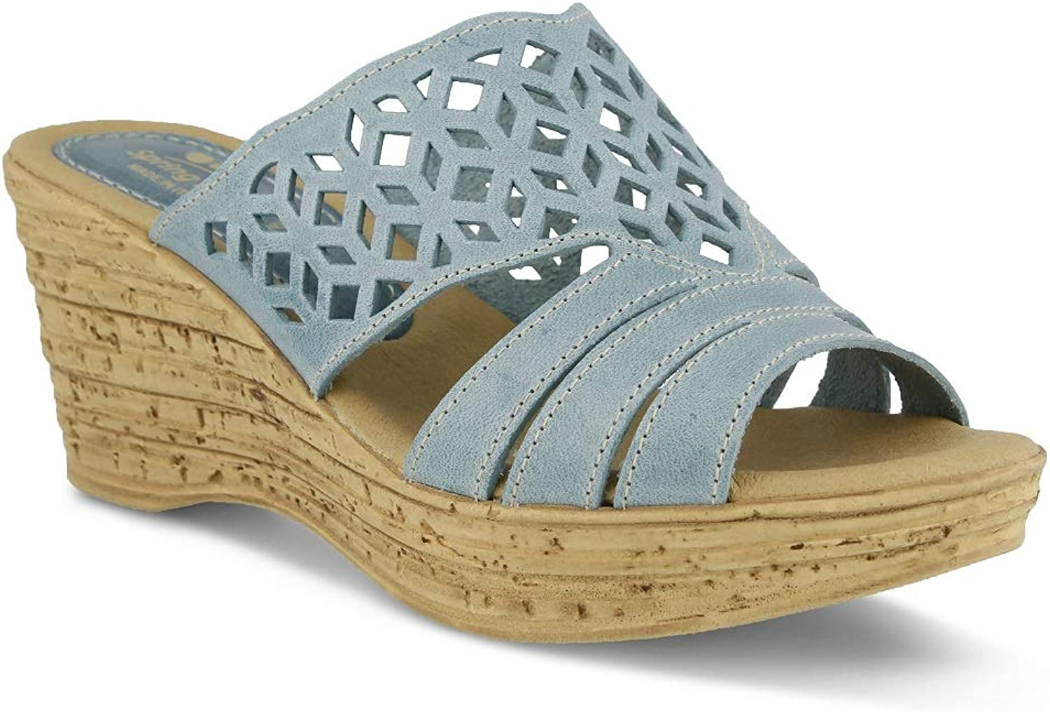Spring Step Women's Vino Sandals   color bluee   Leather Sandals