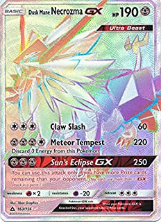 Dusk Mane Necrozma GX - 163/156 - Secret Rare - Sun & Moon: Ultra Prism
