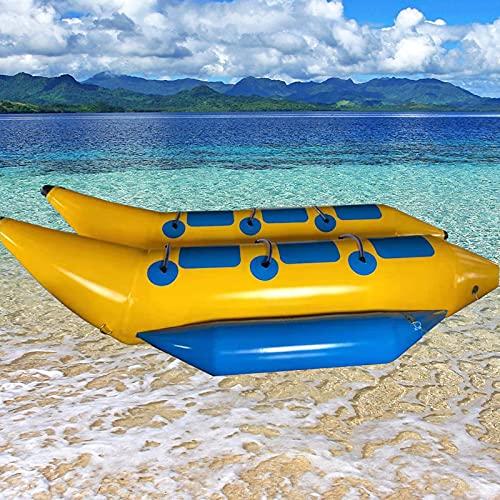 XUANX Bote Inflable Canoa Kayak con Bomba para Adultos Y Niños 6 Personas En La Pendiente De Agua Hu Paradise Snow,A