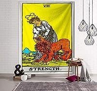 ヨーロッパとアメリカの色のタロットタペストリー家具生地装飾占星術占いインドのタペストリー-5_150x100(桃の皮)