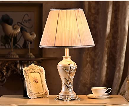 MILUCE 現代中国スタイルのテーブルランプポストモダンクリエイティブな牧歌的な照明ベッドルームのベッドサイド装飾ベッドルームテーブルランプ