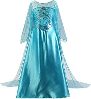 Girls Princess Costume Sequin Fancy Princess Dress Up for Birthday Party Halloween