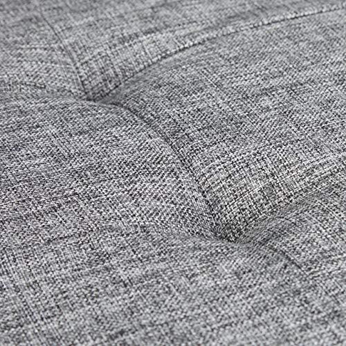 Relaxdays faltbare Sitztruhe XL 114x38x38cm, Leinen, grau - 6