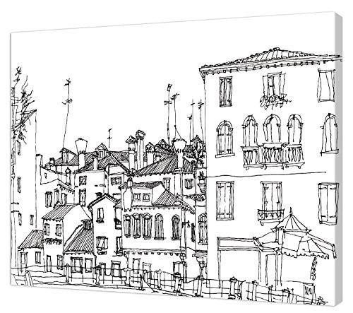 Pintcolor 7812.0 châssis avec Toile imprimée à colorier, Bois de Sapin, Blanc/Noir, 40 x 50 x 3,5 cm