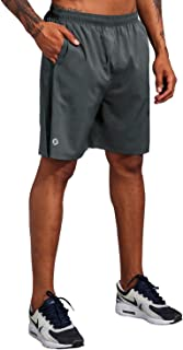 Sponsored Ad - Men's 7 Inch Workout Running Shorts - Quick Dry Lightweight Athletic Gym Training Shorts with Zip Pockets