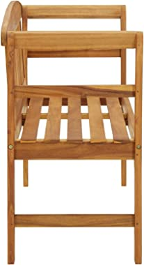 Tidyard Garden Bench Outdoor Patio Balcony Seating Seat Sitting Furniture Entryway Hallway Bench Chair 120 x 47 x 83 cm Solid