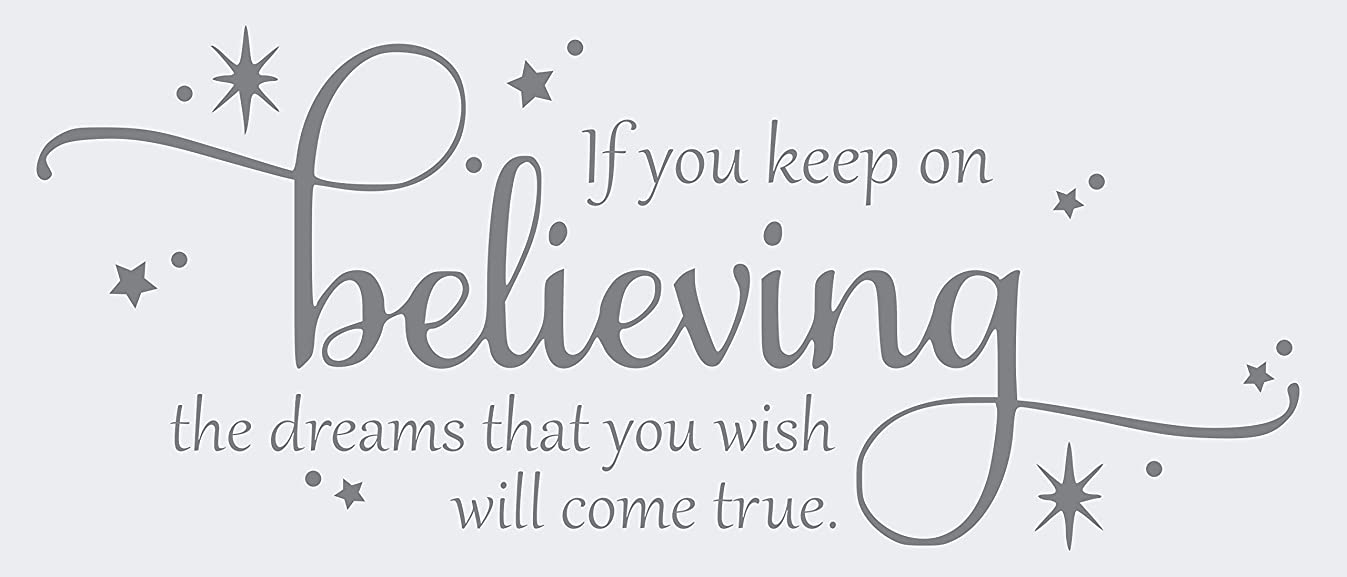 If You Keep on Believing The Dream - Vinyl Wall Art Cinderella Quote - 27