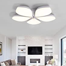 Modern Dimmable LED Ceiling Lamp 5 Head Acrylic LED Ceiling Lights Flush Mount Ceiling Lighting Fixture for Bedroom Living...