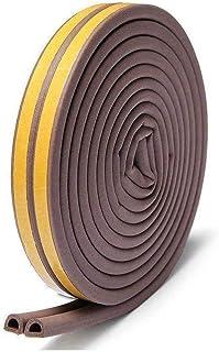 AIWANTO Weather Strip, Seal Strip for Doors and Windows Self-adhesive Foam Door Sealing Strip Soundproof Weatherproof Seal Strip Insulation Gap Blocker (1 Roll of 2 Strips, Total 5M Long)