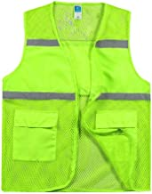 Chalecos reflectantes chaleco reflectante de seguridad, malla transpirable chaleco de seguridad de alta visibilidad nocturna tráfico de montar la protección de seguridad chaleco colorido ropa de traba