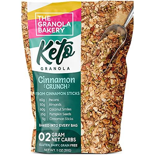 TGB Cinnamon Pecan Keto Granola | 2g Net Carb Snack | Low Carb Nut Cereal | Healthy Artisanal Food, 11 Ounces