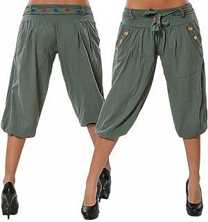 a5a61ae9d12 Mujer Pantalones Cortos Verano Corto Bombacho Pantalón Boyfriend Bermuda  Shorts,Corto Pantalón con Cinturón Baggy