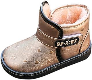 2ed5657a2c YanHoo Zapatos para niños Niñas Lentejuelas Zapatos de algodón Zapatos  Calientes Botines Princesa Botas de Nieve