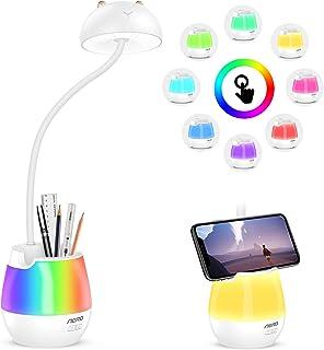 Aerb Lampe de Bureau, Lampe de Bureau Led Dimmable pour Protéger Les Yeux des Enfants avec 3 Modes d'éclairage,Lampe de Bu...