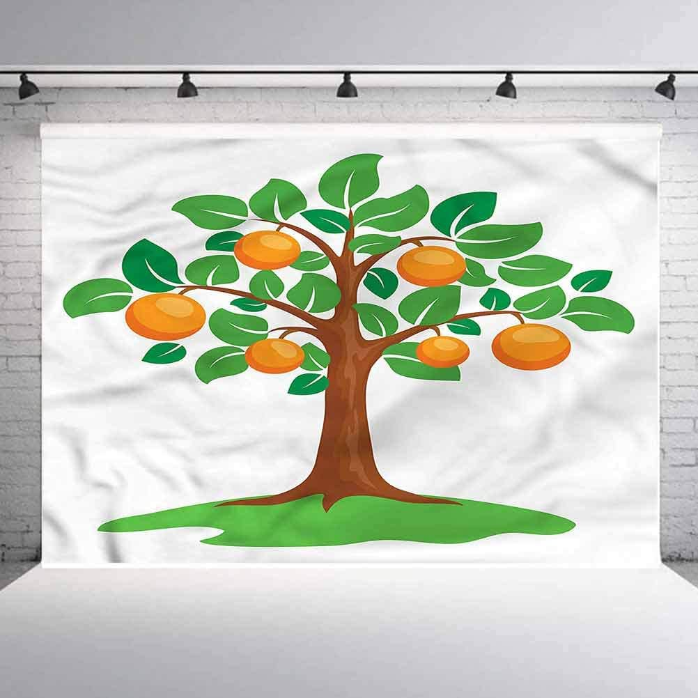 8x8FT Vinyl Wall Photography Backdrop,Pumpkin,Maple Leaves Squash Plant Background for Baby Birthday Party Wedding Graduation Home Decoration
