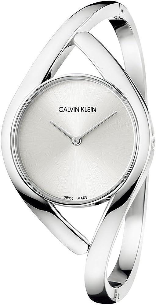 Calvin klein orologio analogico donna in acciaio inossidablie K8U2M116