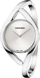Calvin Klein Women's Quartz Watch with Stainless Steel Strap, Silver, 17 (Model: K8U2S116)