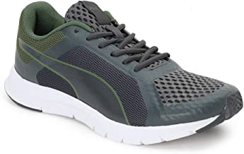 Puma Men's Trackracer Idp Dark Shadow-Garden Green Running Shoes-8 UK (42 EU) (9 US) (36817209_8)