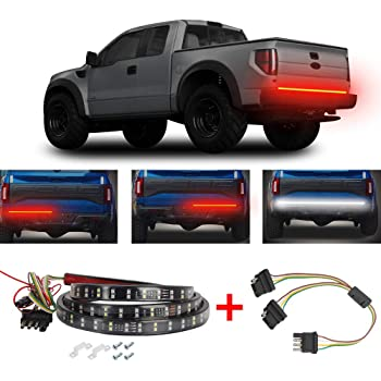 PDR Led Tail Light Strip 60 Double Row with Reverse Three Years Warranty Waterproof Red//White Led Tailgate Light Bar 5 Functions Running Turn Signal Brake Tail Bed Light for Truck SUV