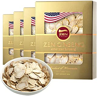 On Sale/American Wisconsin Ginseng Slice — Big Slice 4oz/Box (4boxes) 西洋参片/花旗参片 Performance & Mental Health for Men & Women