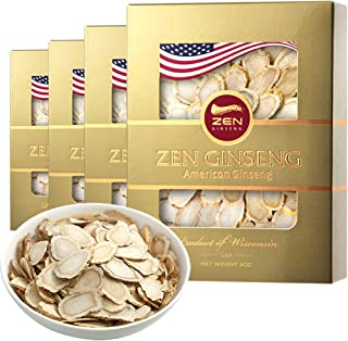 Independence Day Sale/American Wisconsin Ginseng Slice — Big Slice 4oz/Box (4boxes) Performance & Mental Health for Men & Women