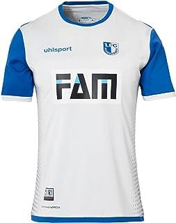 uhlsport 1. FC Magdeburg Trikot Auswärts 2018/2019 Kinder weiß/Azurblau, 152