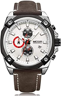MEGIR Sport Watch Men Chronograph Quartz Wrist Watch 2054