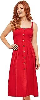 Joe Browns Women's Lauren's Linen Mix Dress, Red (A-Red