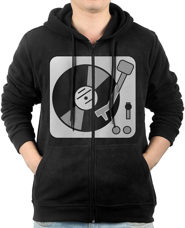 7d7e00e01 Turntable Turntable Turntable Music Vinyl Record Dj Mens Hooded Sweater  Pocket Zipper Hooded Sweatshirt Full Zip Hoodie With Pocket Black e7aa23
