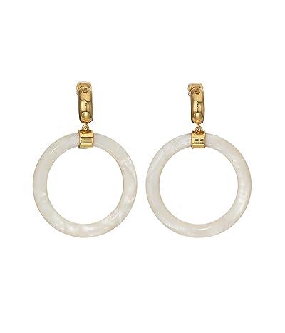 Kate Spade New York Botanical Garden Resin Hoops Earrings (White) Earring