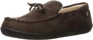 حذاء ISOTONER رجالي من الميكروسويد بدون كعب مع إسفنج ذاكرة تبريد للراحة في الأماكن المغلقة/المفتوحة